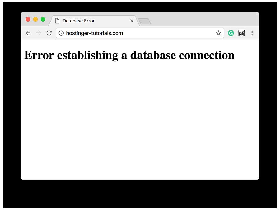 veritabanı bağlantısı oluşturulurken hata oluştu hatası örneği