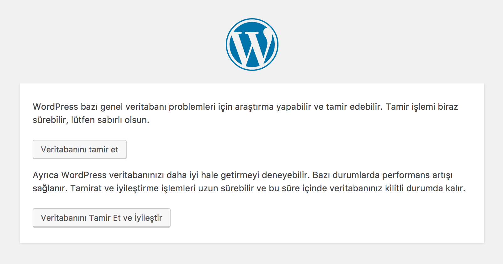 WordPress Onarma