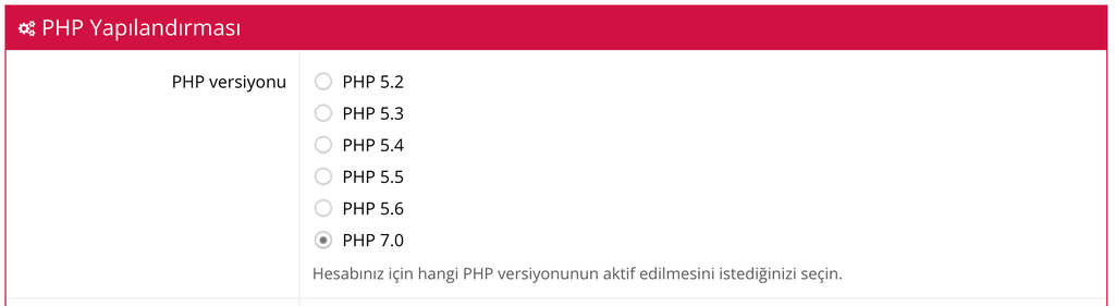Hostinger PHP Versiyonu Değiştirme