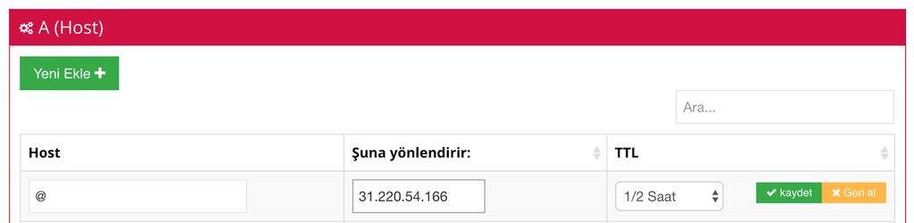 vps domain yönlendirme hostinger A kaydı