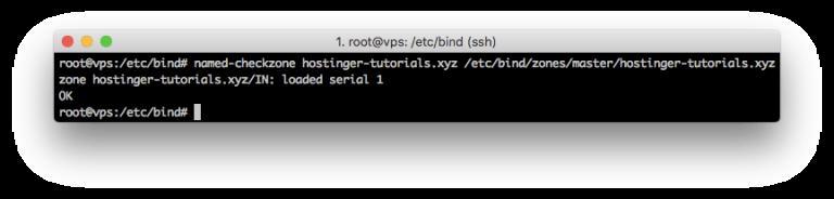 named-checkzone komutu kullanarak DNS bölgesi kontrolü