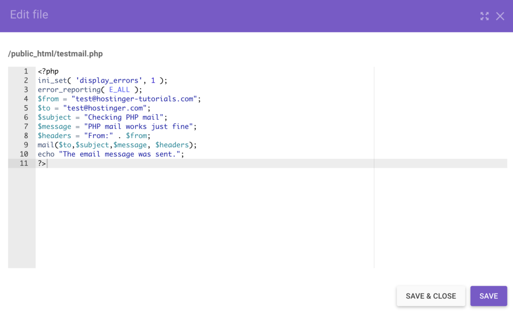 PHP mail'in temel elementleri