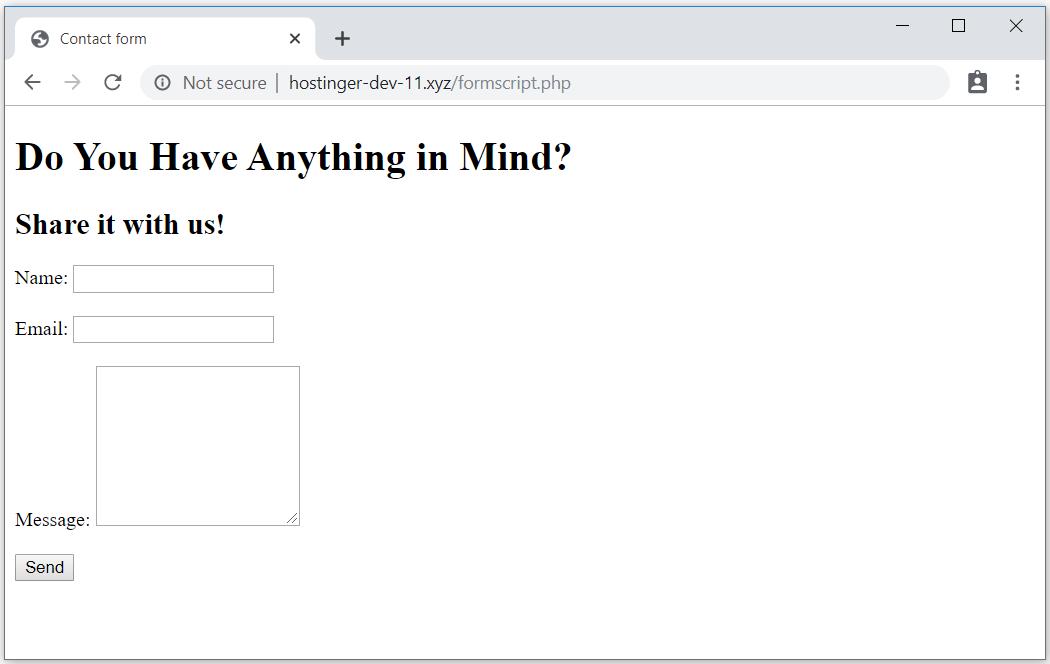 PHPMailer interaktif iletişim formu örneği.