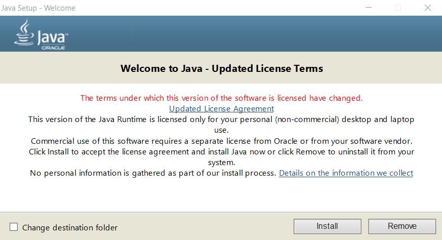 Windows için Java kurulumu