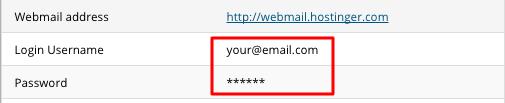 hostinger email hesabı