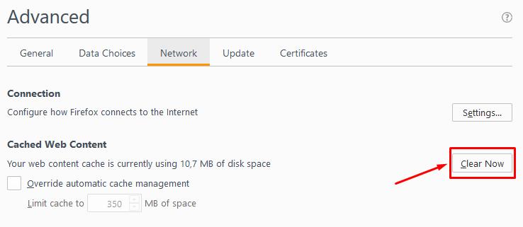 Mozilla Firefox Gelişmiş Ağ Ayarları