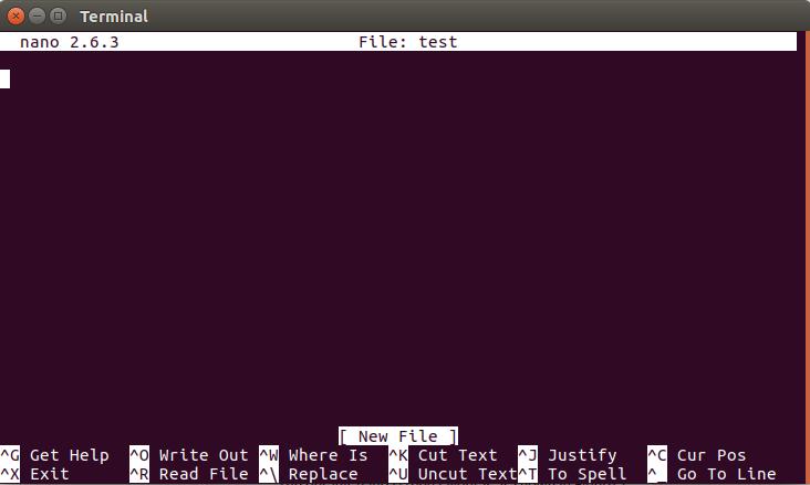 Terminal Nano Text Editörü