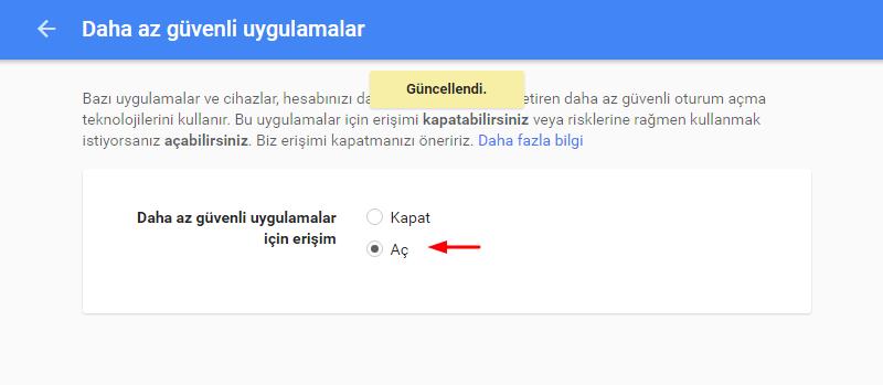 Google Az Güvenli Uygulamalar