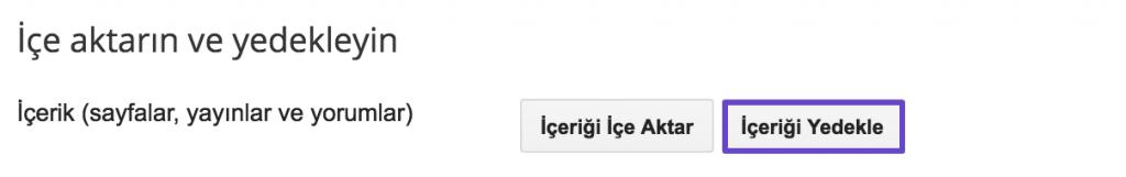 Blogger Yedek Alma