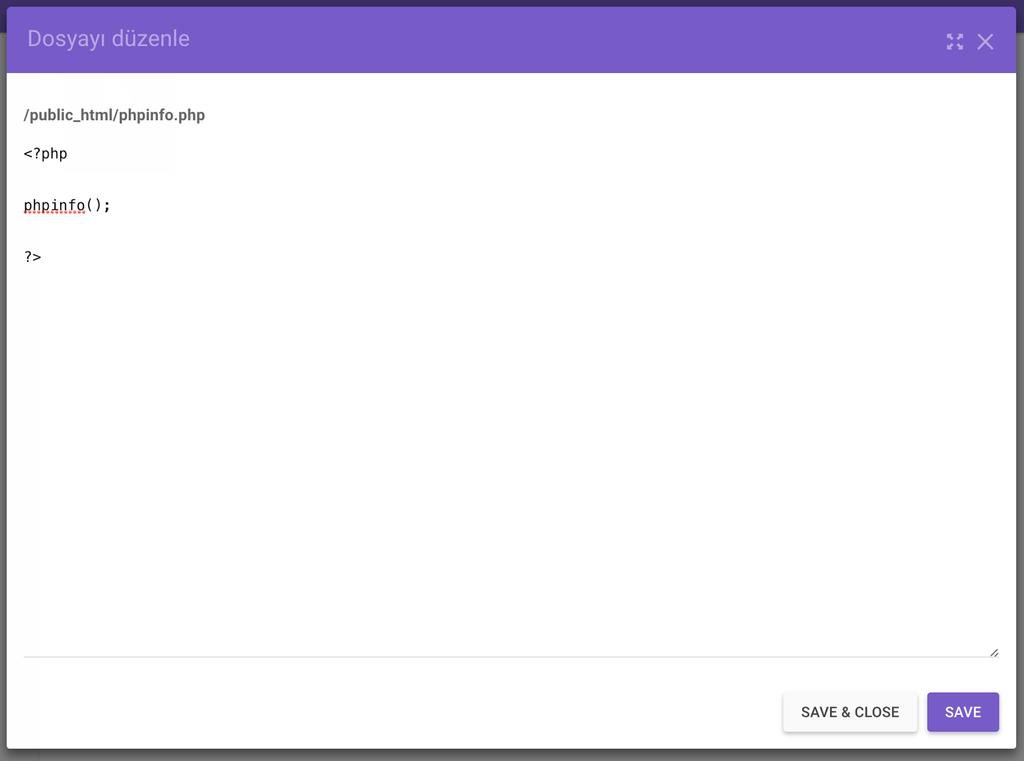Hostinger Dosya Yöneticisi - Dosya Düzenleme