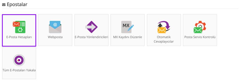 hostinger kontrol paneli mail hesabı listeleme