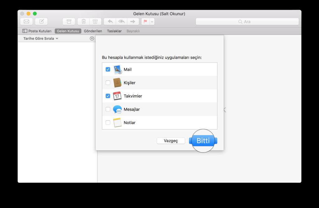 Mac Mail Hesap Ekleme Uygulamaları