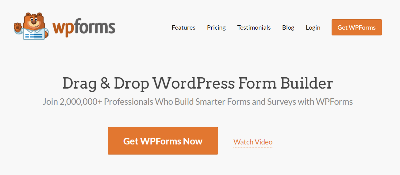WP Forms ana sayfası