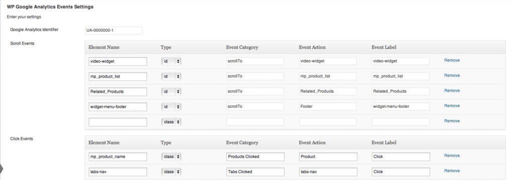 WP Google Analytics Event'de etkinlik ayarlama
