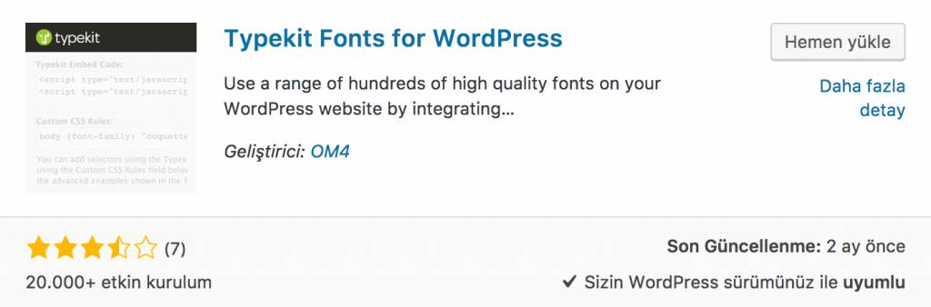 WordPress Yazı Tipi Eklentisi