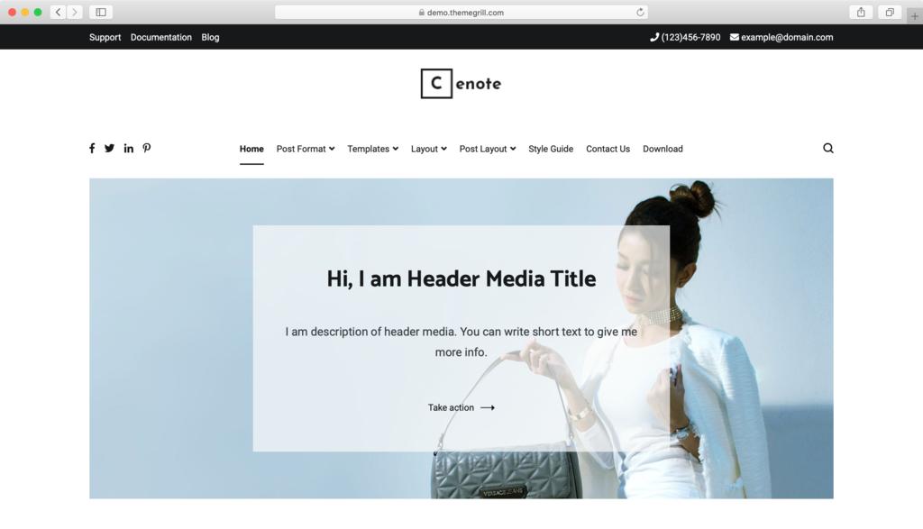 Cenote WordPress teması