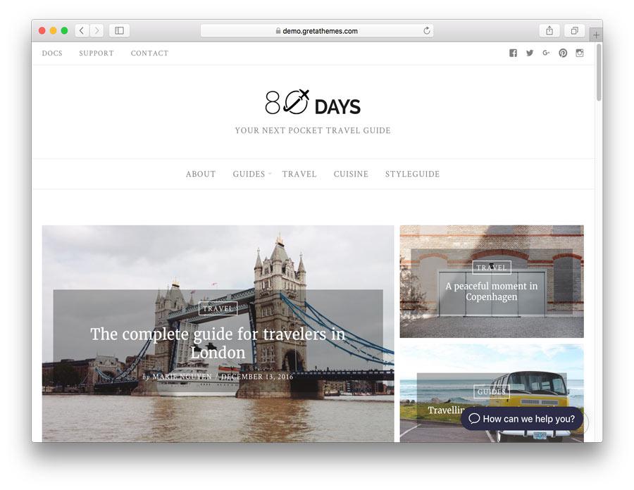 WordPress EightyDays Lite Teması