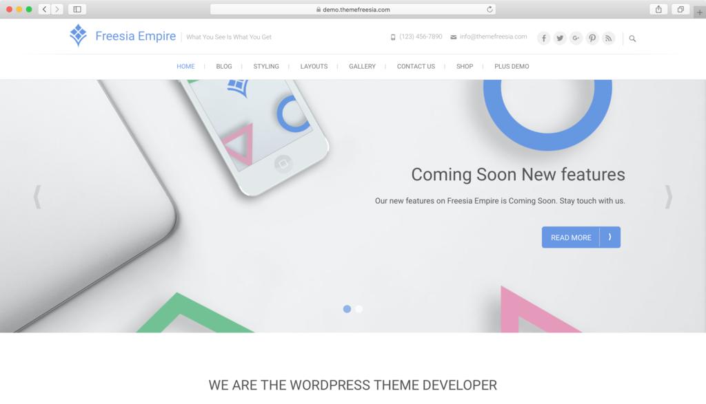 Freesia Empire WordPress teması