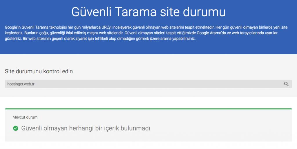Google Bu Site Zararlı Tarama