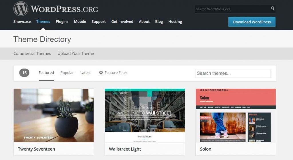 WordPress Tema Dizini