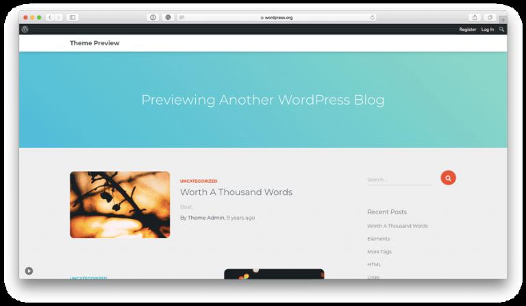 WordPress Orfeo Teması