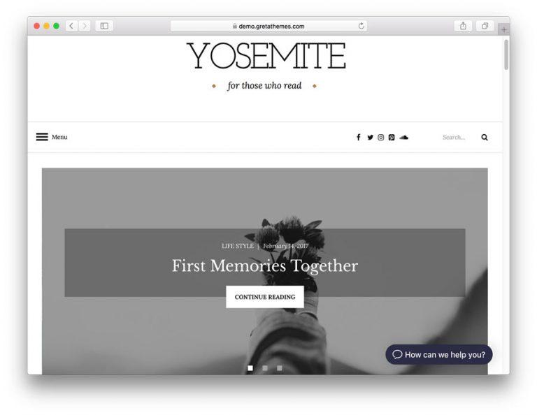 WordPress Yosemite Lite Teması