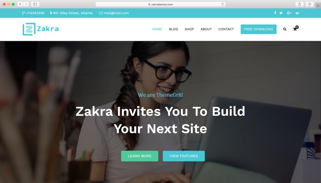 Zakra WordPress teması