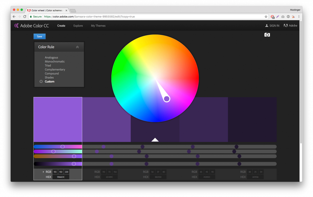 Adobe Renk Paleti Sitesi