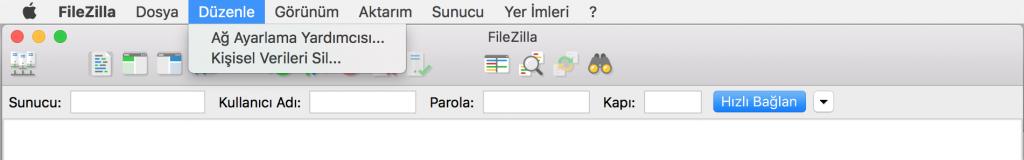 FileZilla: Ağ Yapılandırma yardımcısı