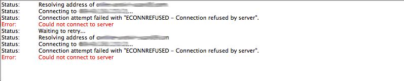 FileZilla bağlanmıyor: econnrefused - bağlantı sunucu tarafından reddedildi
