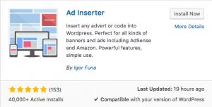 Ad Inserter WordPress Eklentisi