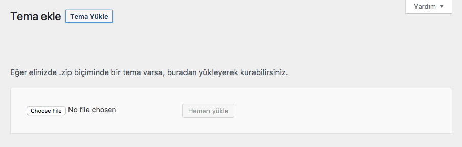 WordPress Tema Yükle
