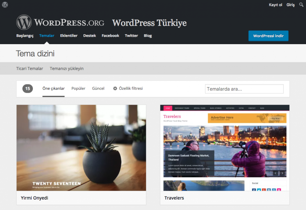 WordPress Tema Dizini