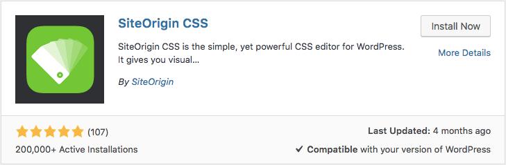 SiteOrigin CSS Eklentisi aracılığıyla WordPress özel css ekleme