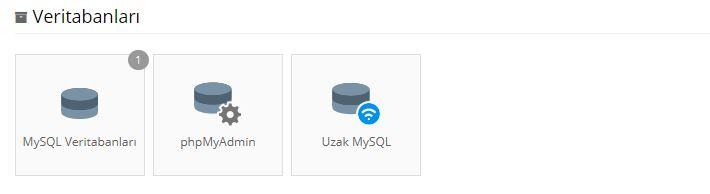 Hostinger Kontrol Paneli MySQL veritabanları bölümü