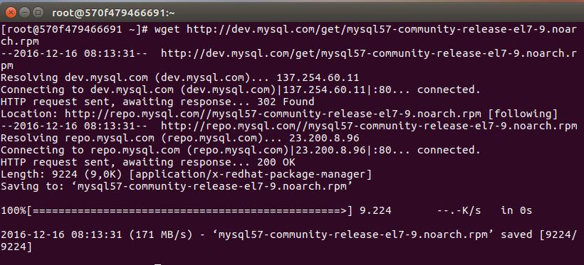 mysql repository indirme kaydı