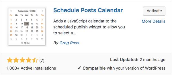 WordPress Schedule Posts Calendar Eklentisiyle Yazılarınızı Zamanlayın