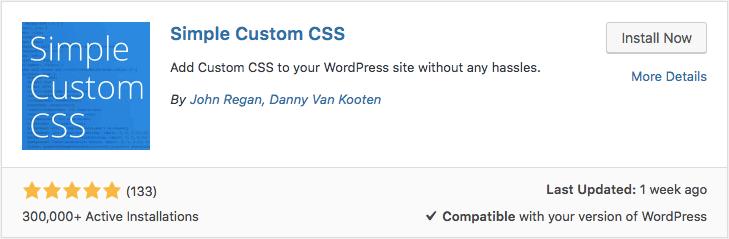 Simple Custom CSS eklentisiyle WordPress Özel CSS Ekleme