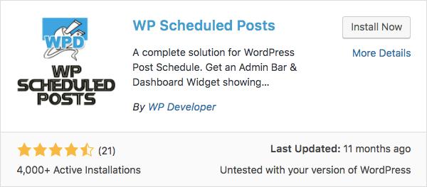 WP Scheduled Posts Eklentisiyle Yazılarınızı Zamanlayın