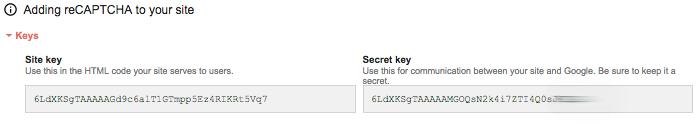WordPress Recaptcha API anahtarları