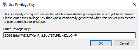 Windows üzerine privileged key giriş ekranı