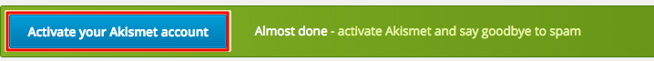 WordPress Akismet Başarıyla Etkinleştirildi