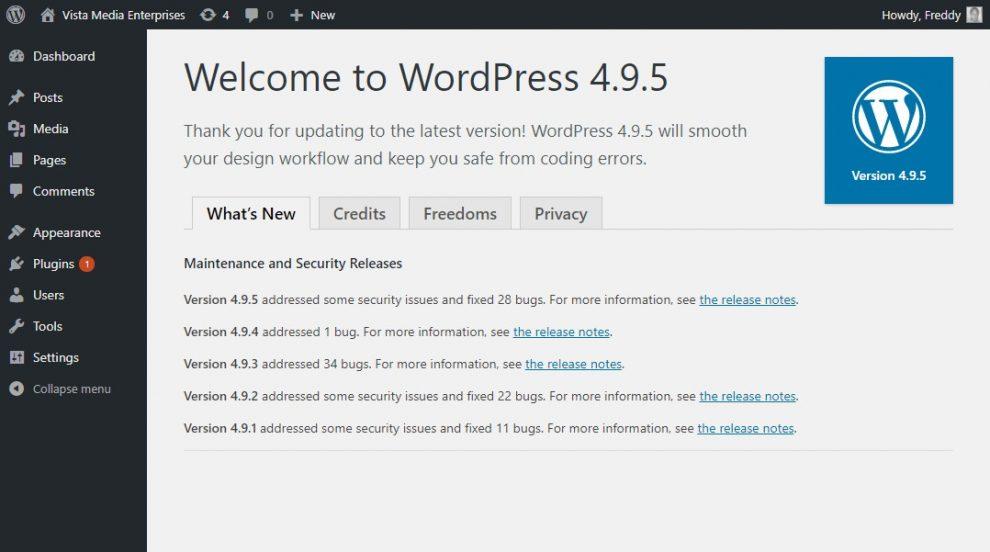 WordPress Hoşgeldin Ekranı