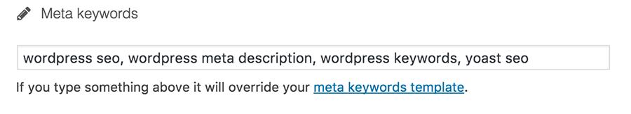 WordPress'de anahtar kelimeler ekle