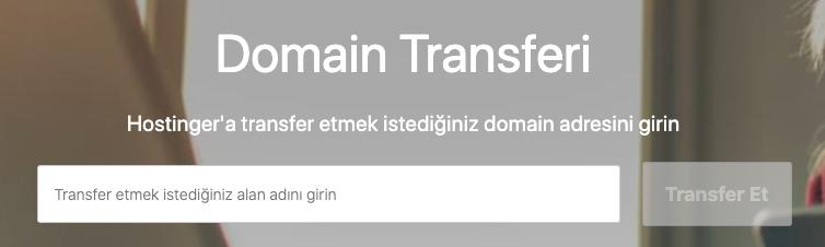 Hostinger üzerinde domain transfer işlemi