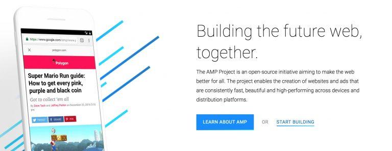 Google AMP Anasayfası Görünümü
