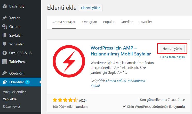 WordPress Eklentiler Sayfasında Yoast SEO Eklentisi Görünümü