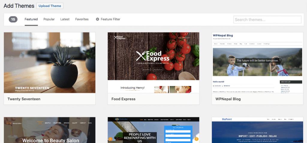 WordPress Temasını Değiştirme