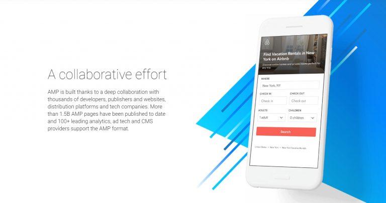 AMP web sitesi örneği