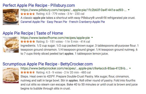 Apple Pie Schema Markup Örneği